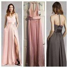 I Have Three Of These Very Wang Bridesmaid Dresses In Blush From The White