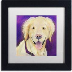 Trademark Fine Art Alex Canvas Art by Pat Saunders-White, White Matte, Black Frame, Size: 11 x 11, Yellow