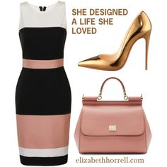 LIZ by elizabethhorrell on Polyvore featuring moda, Paper Dolls, Christian Louboutin and Dolce&Gabbana