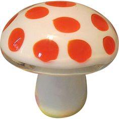 Vintage & Antiques - Community - Google+ Vintage Art Glass Polk a dot Mushroom part of the Magic Ride Generation.