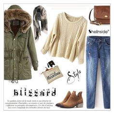 """""""Brrrrr! Winter Blizzard"""" by aurora-australis ❤ liked on Polyvore featuring The Bridge, Sheinside, polyvoreeditorial and blizzard"""