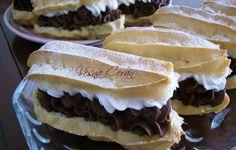 Great Desserts, No Bake Desserts, Czech Recipes, Ethnic Recipes, Sweets Recipes, Cooking Recipes, Eclairs, Pavlova, Nutella