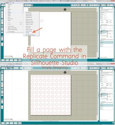 How to FILL a page with a design equally and easily!!  This is so simple to do and a definite must-know!  Pin this now and read it when you are designing with your Silhouette!