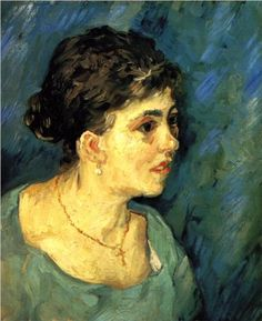 Portrait of Woman in Blue - Vincent van Gogh