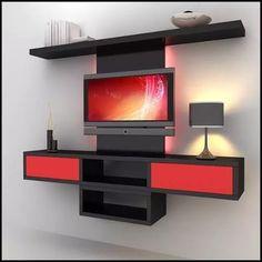centro entretenimiento tv blu ray dvd mueble repisa flotante