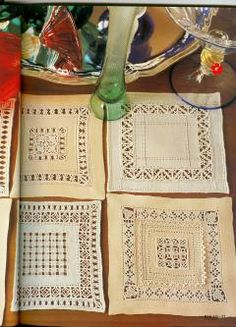 Nice way to practice drawn work on small project. Hardanger Embroidery, White Embroidery, Ribbon Embroidery, Cross Stitch Embroidery, Drawn Thread, Lace Making, Bargello, Decoration, Needlework