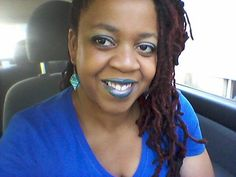 My blue lips! Performance at the District tonight!