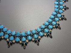 *P Blue Bay Necklace Silky Czech beads by zviagil on Etsy
