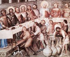"""Particolare, Nozze di Cana - cattedrale di Padova, """"Nozze di Cana"""" di Giusto de' Menabuoi del 1376/78,"""