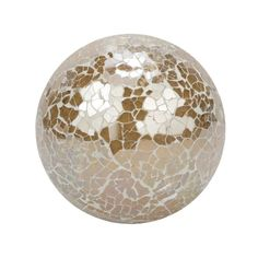 "Silver Decorative Balls Silver Studded Decor 4"" Ball  Largemetal Decor Balls With Wood"