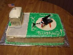 Helicopter Birthday Cake.  Going to try this one for Taylor's birthday.