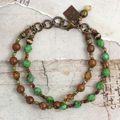 Treat your inner cowgirl! Ooak hand-knotted bracelet.