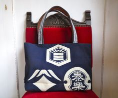 Etsy のTAIRAKU Tote bag made from Japanese vintage canvas apron 'Maekake'.ビンテージ前掛けバッグ(ショップ名:53KIRIJP)