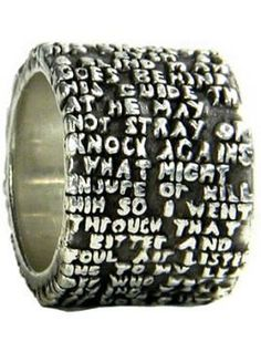 letters ring
