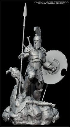 ZBrush is the industry standard and best selling digital sculpting tool. Character Modeling, 3d Character, Character Design, 3d Modeling, 3d Fantasy, Fantasy Warrior, Greek Warrior, Spartan Warrior, Vikings