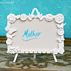 Place Cards DIY: Pottery Barn Inspired Spring Place Card Easels