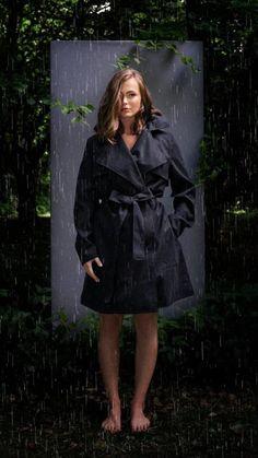BRGN by Lunde & Gaundal, Yr Coat, Caviar black Caviar, Raincoat, Urban, Lifestyle, Jackets, Black, Women, Fashion, Rain Jacket