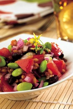 Black Bean, Edamame and Wheat Berry Salad