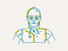 C3PO #illustration #starwars #c3po