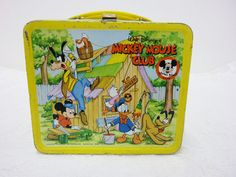Vintage Mickey Mouse Club Lunch Box by SheLeftUsThis on Etsy, $64.95