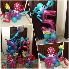 Under the sea birthday 5 years old baby girl