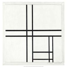 Composition in Black and White, with Double lines, 1934 Posters by Piet Mondrian at AllPosters.com