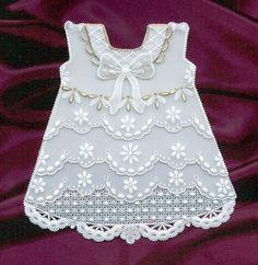 PERGAMANO, Baby girl dress card