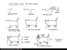 funny pictures - How to Draw a Cat