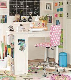 Girl creative room for desks teens