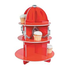 Fire Hydrant Cupcake Holder - OrientalTrading.com