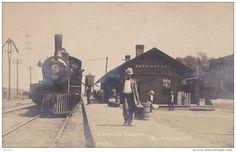 RP: Railroad Locomotive at C&N W. Railroad Depot , BARRINGTON , Illinois , 00-10s : C.R. CHILDS Photo postcard - Delcampe.com