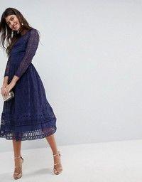 e6070dfb57 PREMIUM Occasion Lace Midi Dress | Dress | Asos premium, Lace midi ...