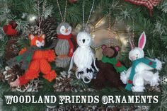 Create your own yarn friends to decorate your tree