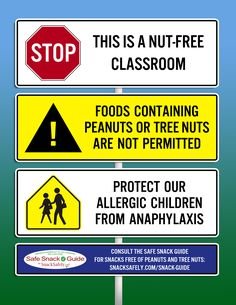 A set of nut-free notice graphics to help your school enforce its allergen exclusion policy. Tree Nut Allergy, Peanut Allergy, Peanut Free Classroom, Peanut Free Snacks, Nursing Notes, School Nursing, Nut Allergies, Allergy Free, School Snacks