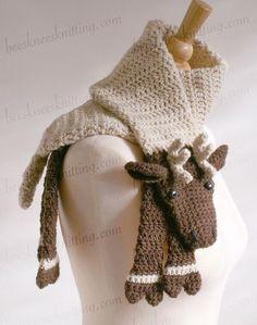Crocheting: Reindeer Scarf Crochet Pattern