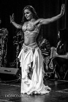 White Belly dance costume