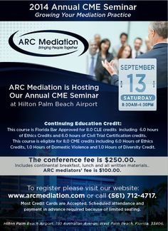 Join us September 13th for the 2014 Annual CME Seminar! #FLlaborLawyer