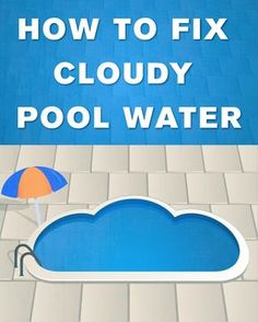 Cloudy pool water not only looks bad, it can be bad for your health. Learn how to fix cloudy pool water fast, and get back to swimming in a clean pool. Swimming Pool Water, Above Ground Swimming Pools, My Pool, Ground Pools, Cloudy Pool Water, Pool Cleaning Tips, Living Pool, Outdoor Living, Swimming Pool Maintenance
