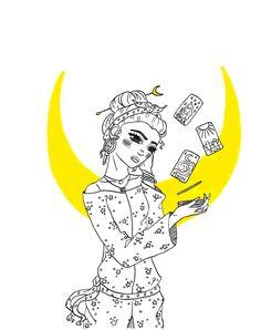 Behatilife Tarot Readers, Inktober, Stars, Illustration, Inspiration, Instagram, Biblical Inspiration, Illustrations, Inhalation