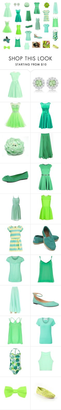 """""""Tinkerbell's closet"""" by hunterhayesfan92 ❤ liked on Polyvore featuring Dorothy Perkins, Sandro, Michelle Roy, Serious Sally, TOMS, Anna Field, River Island, Steven by Steve Madden and John Lewis"""