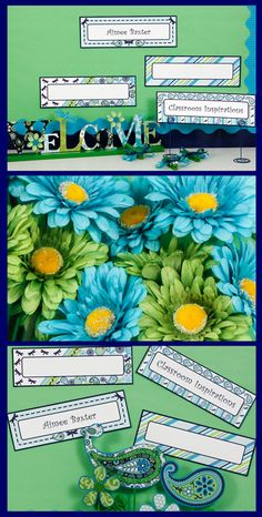 Nameplates are editable and can be used in so many ways!  I used them on my computer bulletin board to add web addresses for the kids to reference.  It matches the Pretty Paisley classroom theme! $ classroominspirations.com