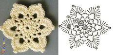 patterns for borders and motifs Crochet Circles, Crochet Mandala, Crochet Motif, Diy Crochet, Crochet Flowers, Christmas Crochet Patterns, Crochet Snowflakes, Irish Lace, Irish Crochet