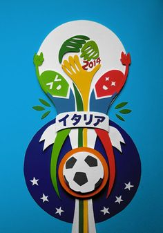 Papercut about 2014 worldcup