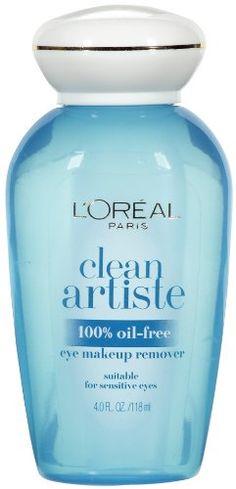L'Oreal Paris Eye Makeup Remover, 100% Oil-Free, 4 Fluid Ounce