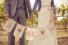 wedding date banner