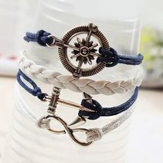 Trendy Retro Anchor Rudder Decorated Bracelet, AS THE PICTURE in Bracelets | DressLily.com