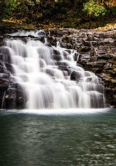Twin Falls on the Road to Hana in Maui, Hawaii