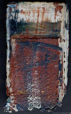 winter 2 encaustic on panel 6x12in 2013