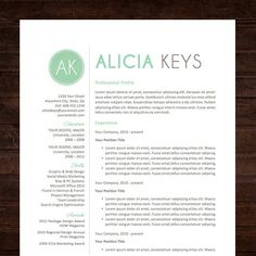 Resume Template & Cover Letter  Free 2nd page / by ShineGraphics, $12.50