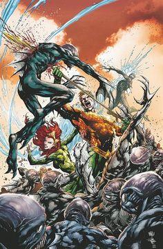 Aquaman and Mera by Ivan Reis